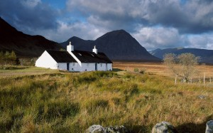 Black Rock cottage on rannoch moor, Scotland